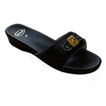 Scholl Leather Look Low - Black