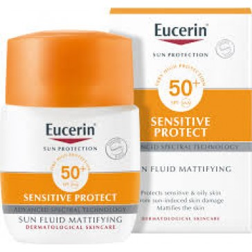 Eucerin Sun Protection Sensitive Protect Sun Fluid Mattifying SPF50+ 50ml