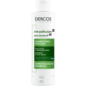 VICHY Dercos Anti-Dandruff Advanced Action Shampoo  - Normal to Oily Hair 200ml