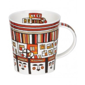 Dunoon Mug - Lomond Shape - Utopia - Red