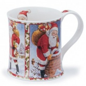 Dunoon Mug - Wessex Shape - Season's Greetings - Santa