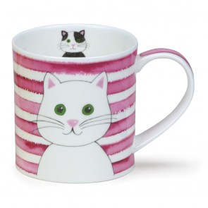 Dunoon Mug - Orkney Shape- Stripy Cats