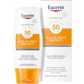 Eucerin Sun Allergy Protect Sun Cream Gel For Face and Body SPF50 150ml