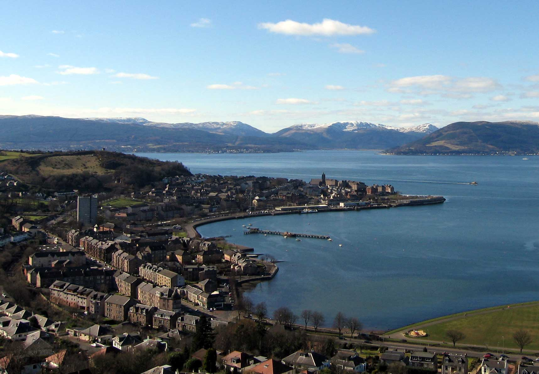 Gourock from Lyle Hil